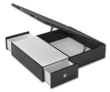 Canapé de madera Maxi Box con cajones laterales