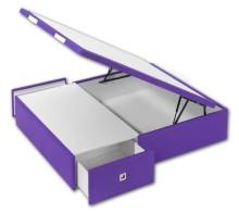 Canapé Box tapizado con cajones laterales